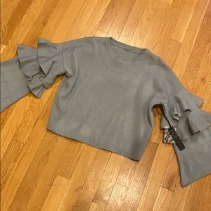 NWT Poof crop sweater